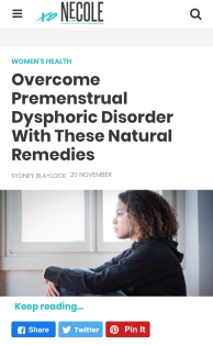 GET OVER PMDD WITH NATURAL REMEDIES