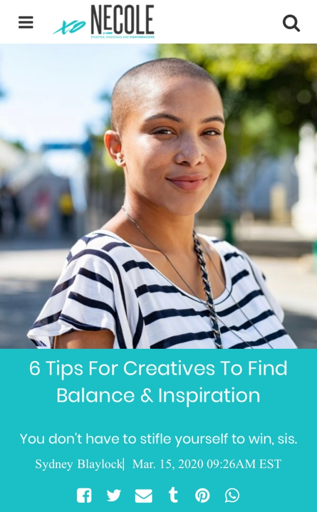 TIPS FOR BLOSSOMING CREATIVES